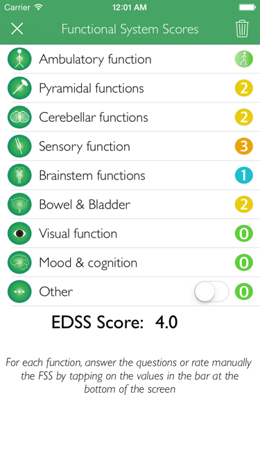 Automated EDSS rating